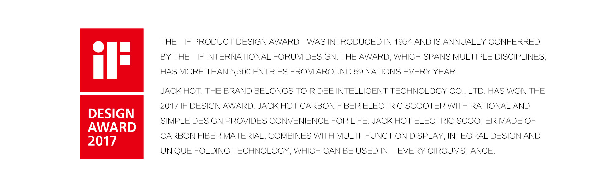 JACK HOT iF design award 2017
